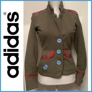 Adidas vintage military mod jacket green/red/bl S